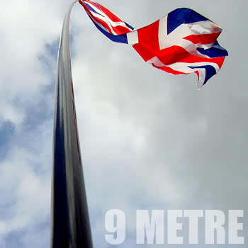 Blue Banana 9 Metre Telescopic Flagpole
