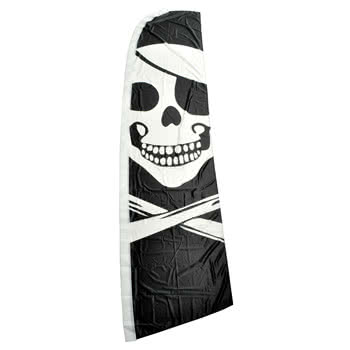 Blue Banana Large Skull And Cross Bones Swooper Flag