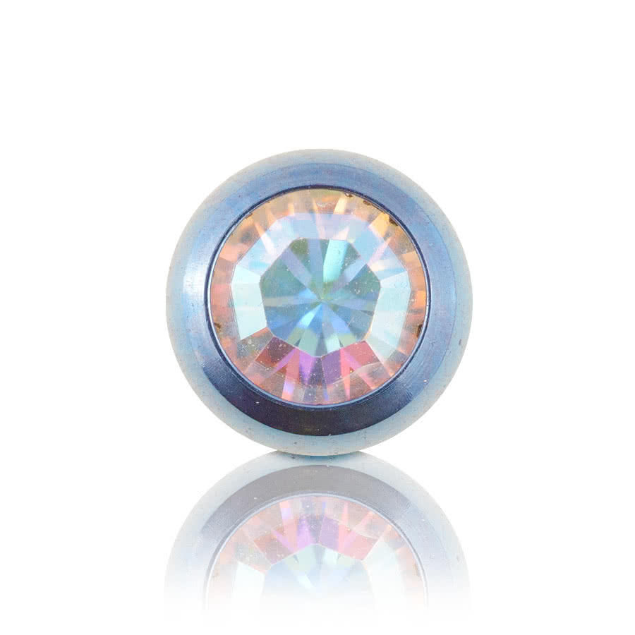 Coloured Titanium 5mm Jewelled Ball (Light Blue/AB)