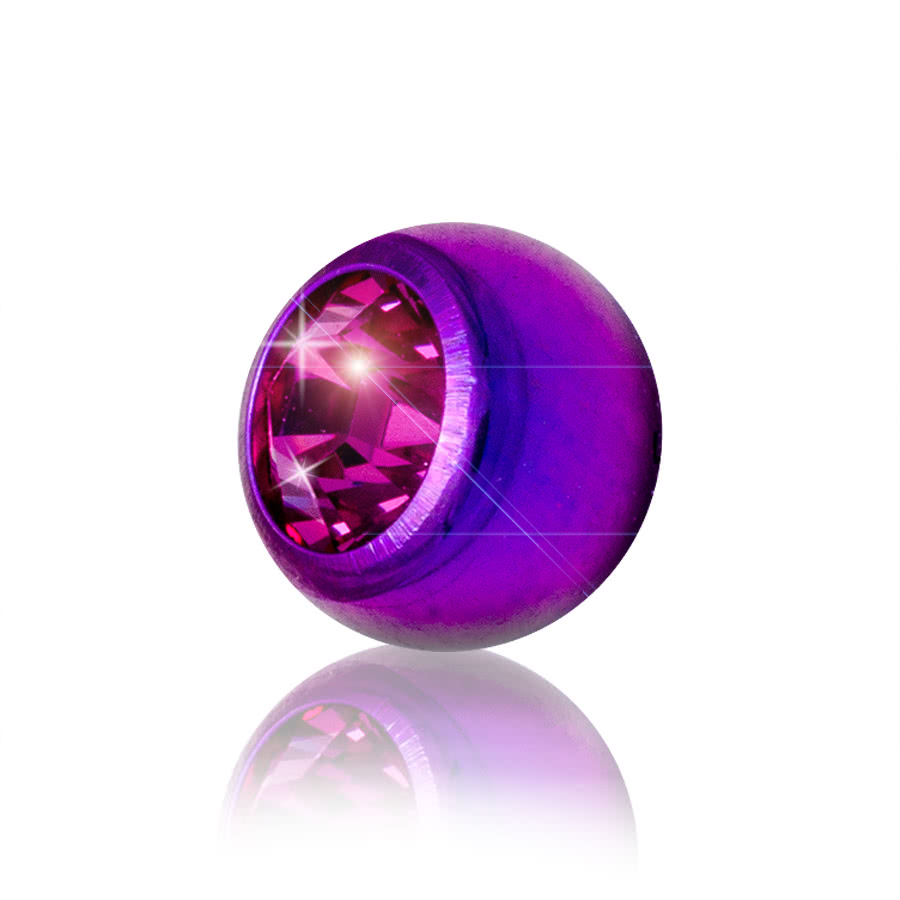 Blue Banana Coloured 5mm Jewel Ball (Purple/Rose)