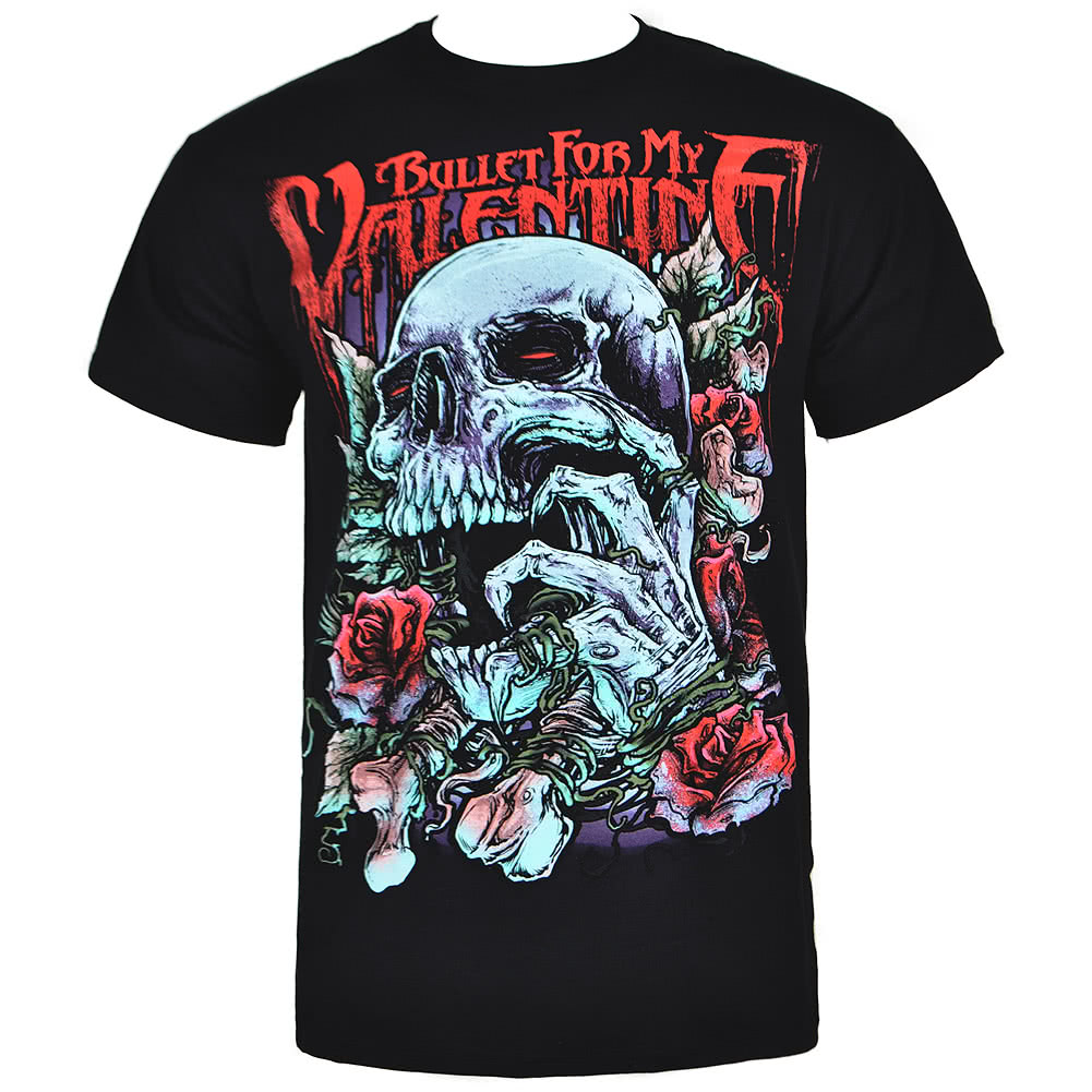 Bullet For My Valentine Red Skull Eye T Shirt (Black)