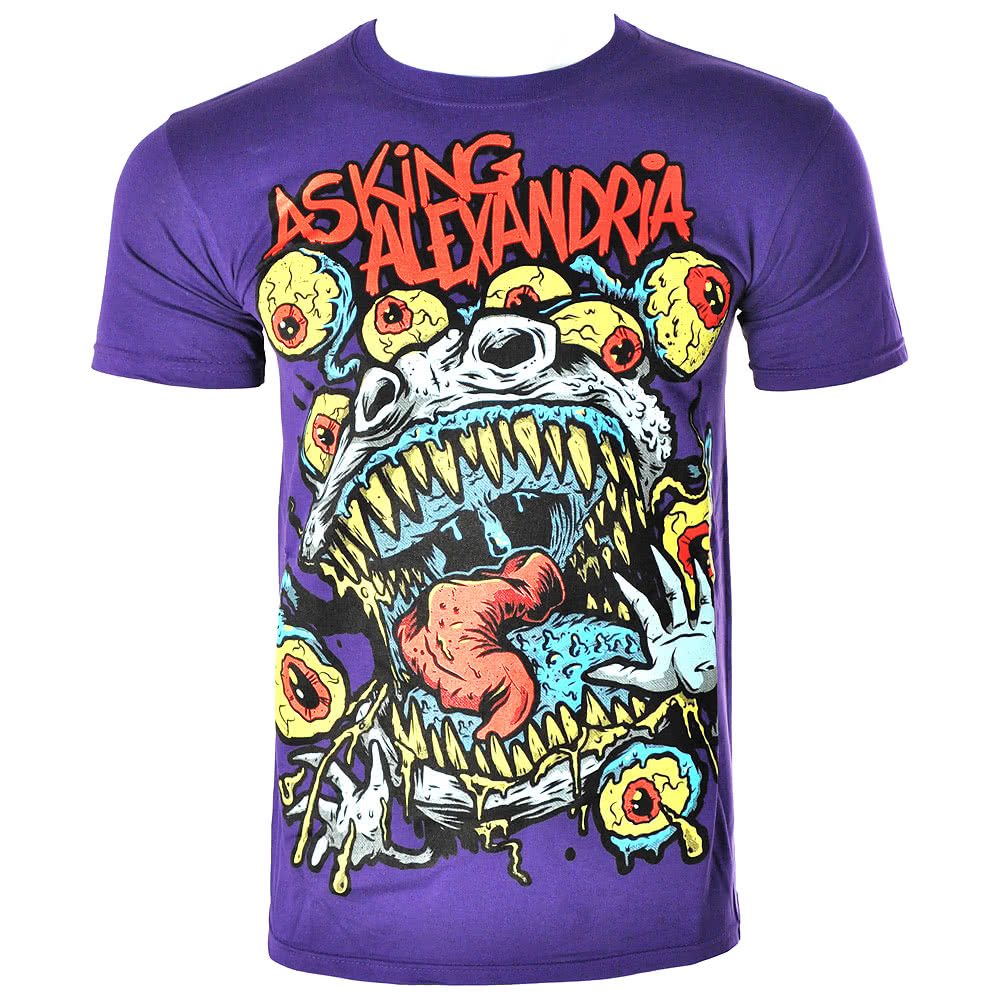 Asking Alexandria Eyeballs T Shirt (Purple)
