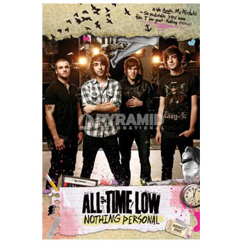 All Time Low Nothing Personal Print Poster (Brown)