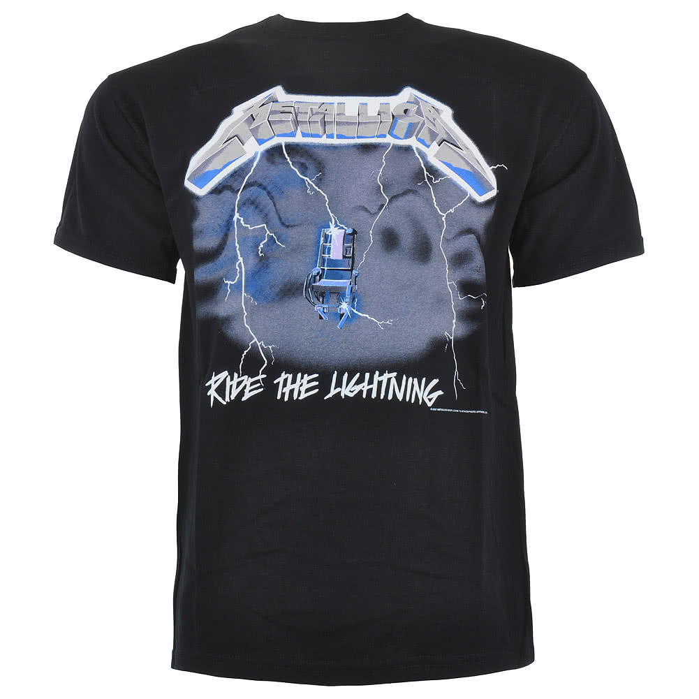 Metallica Ride The Lightning Print T Shirt (Black)