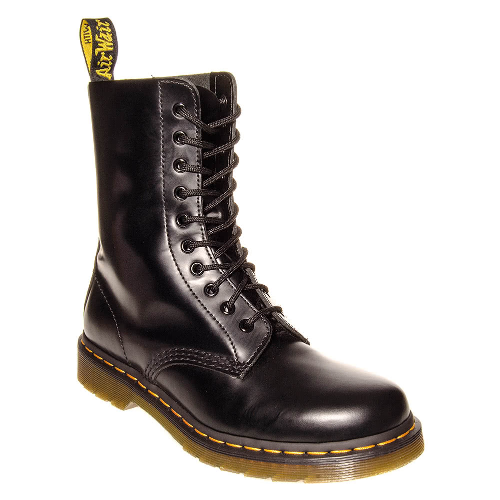 Dr Martens 1490 10 Eye Boots (Black)