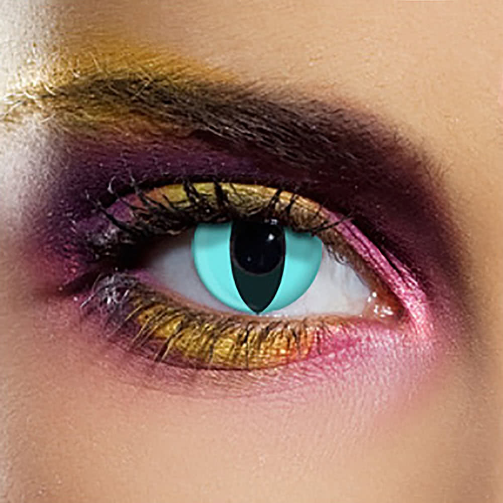 EDIT 90 Day Coloured Contact Lenses (Aqua Cat's Eye)
