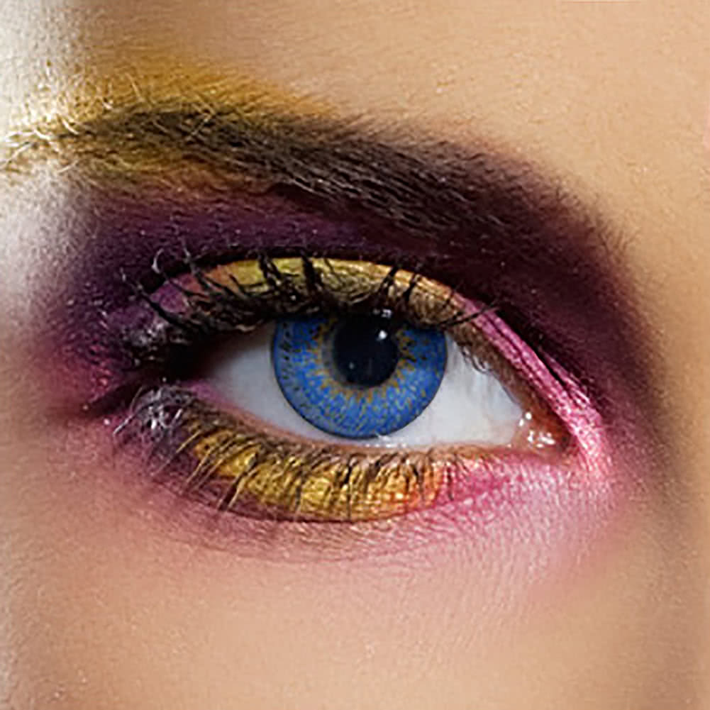 EDIT 90 Day Coloured Contact Lenses (Tri Tone Blue)