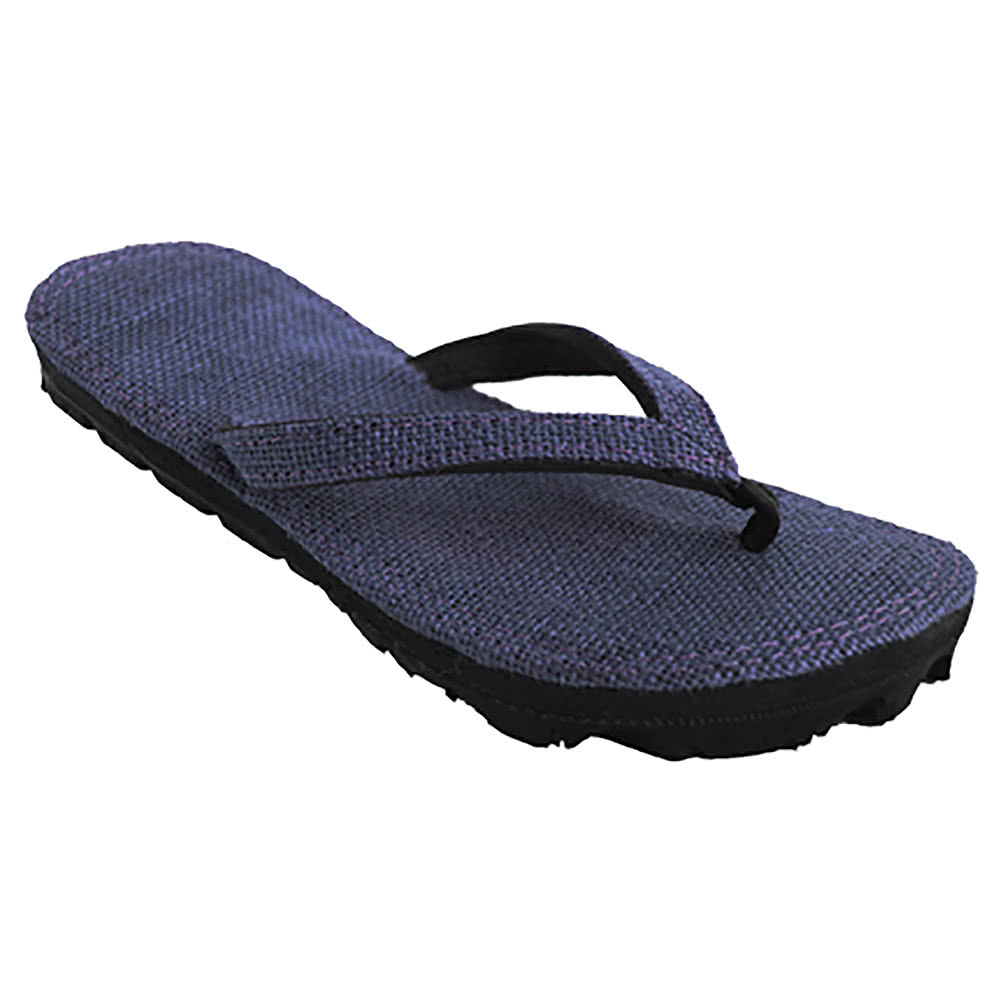 Maasai Treads Ladies Flip Flops (Navy)