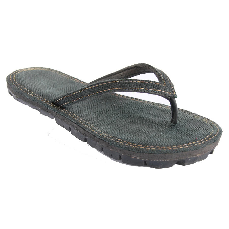 Maasai Treads Ladies Flip Flops (Black)