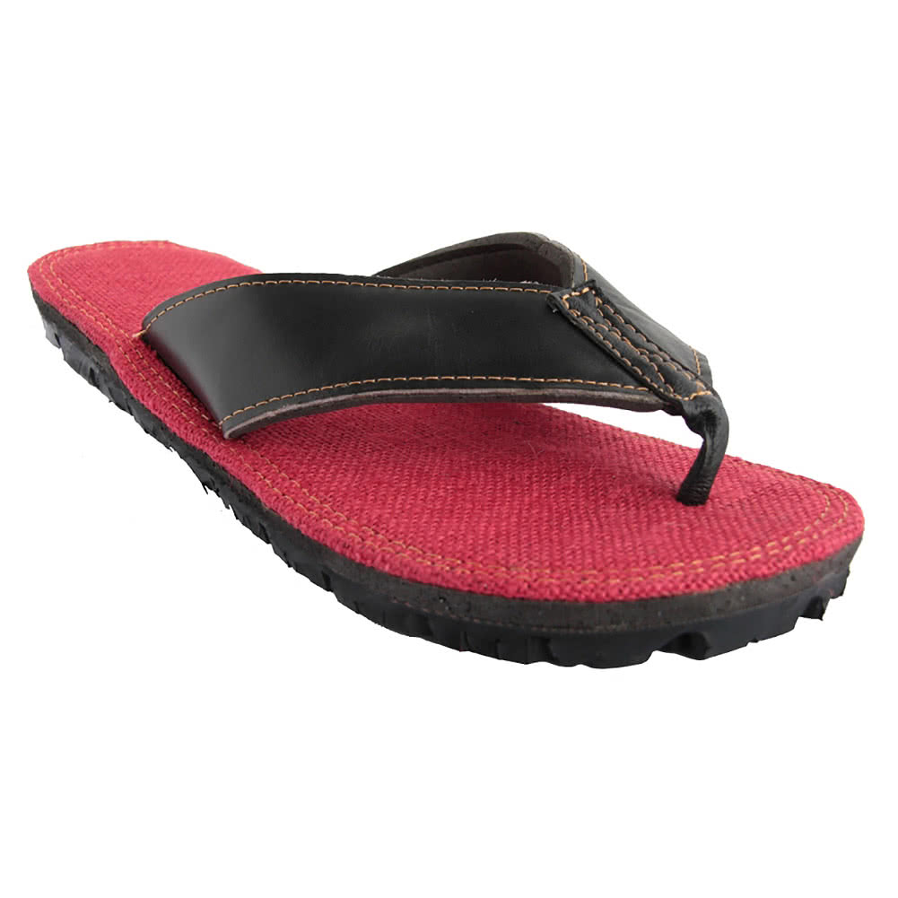 Maasai Treads Mens Flip Flops (Red)
