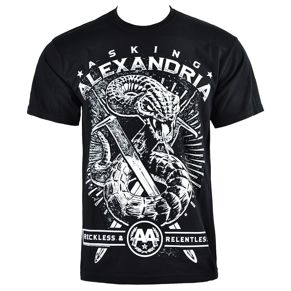 Asking Alexandria Snake T Shirt (Black)