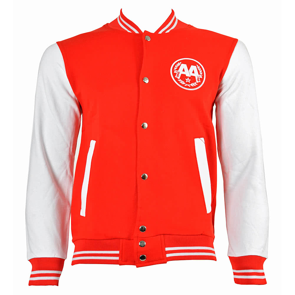 Asking Alexandria Snake Varsity Jacket (Red/White)