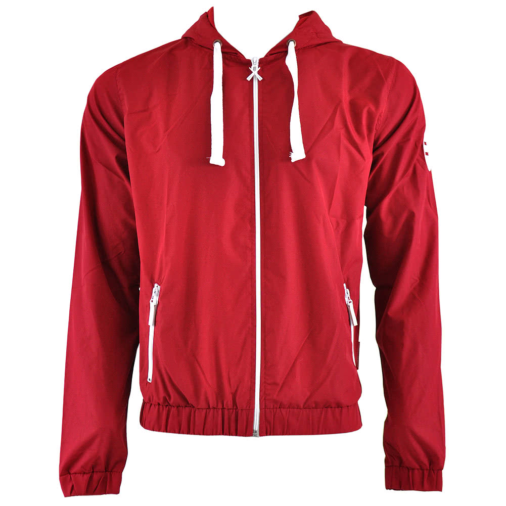 Criminal Damage Track Skinny Fit Hoodie (Burgundy)