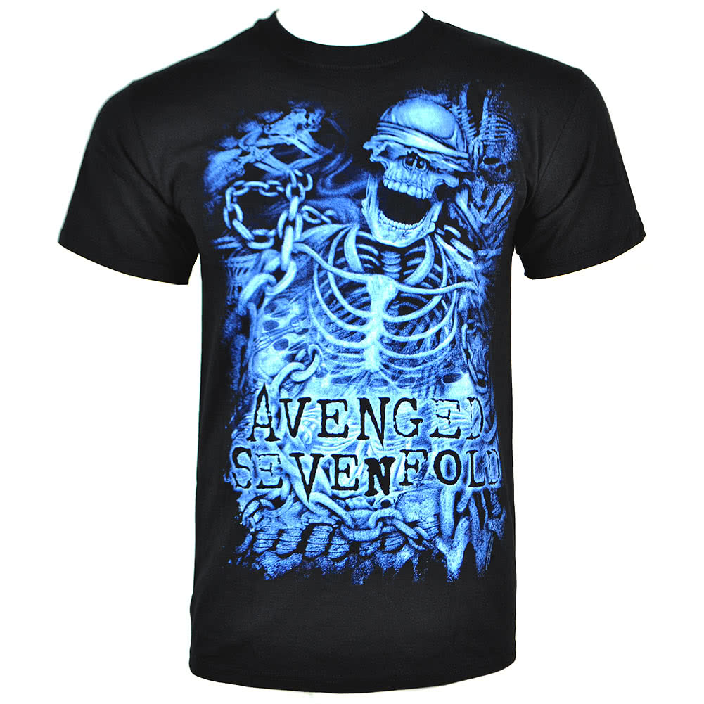 Avenged Sevenfold Chained Skeleton T Shirt (Black)