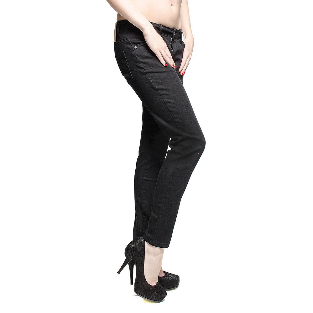 Bleeding Heart Petite Skinny Fit Jeans (Black)