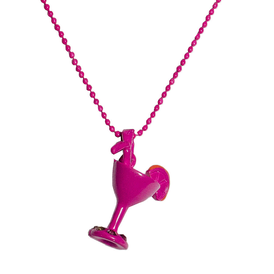Blue Banana Cocktail Necklace (Pink)