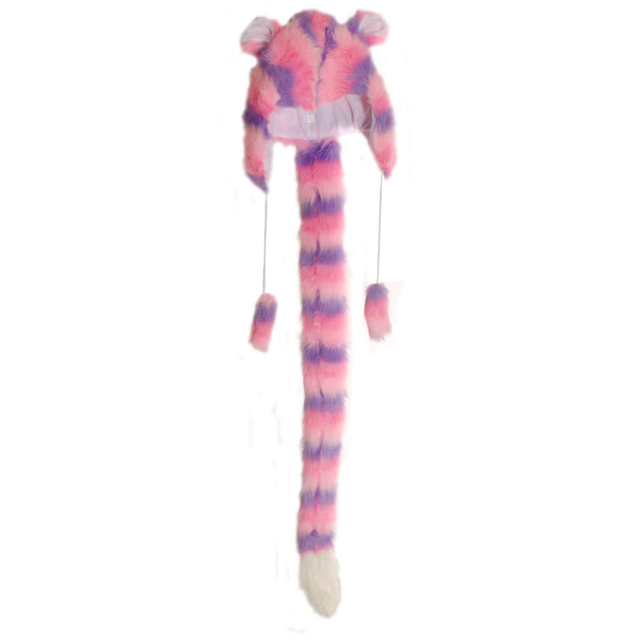 Blue Banana Furry Hat/Scarf (Purple/Pink)
