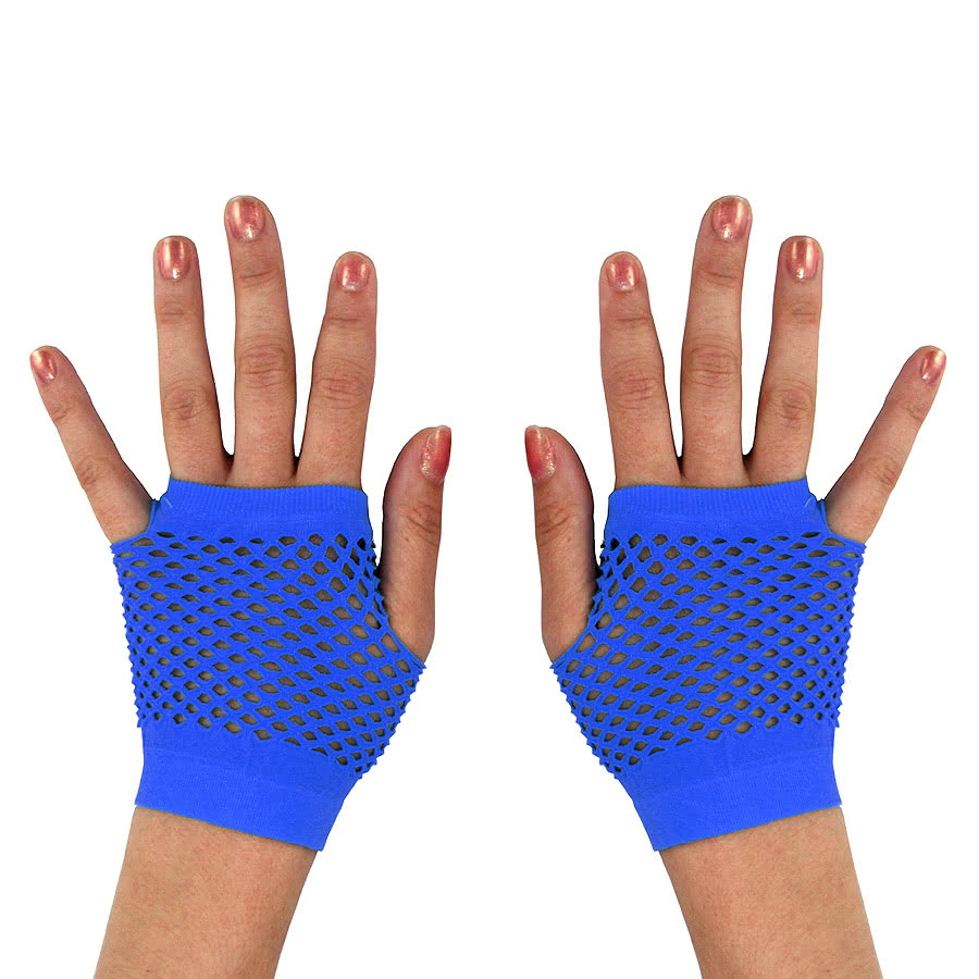 Blue Banana Short Net Gloves (Blue)