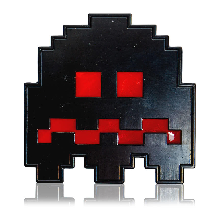 Blue Banana Space Invaders Belt Buckle (Black)