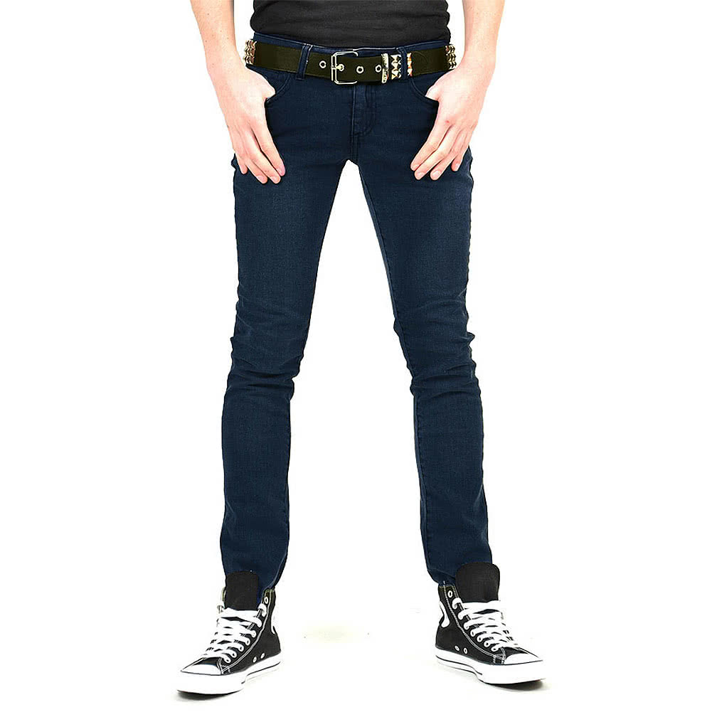 Bleeding Heart Men's Skinny Fit Jeans (Indigo Navy)