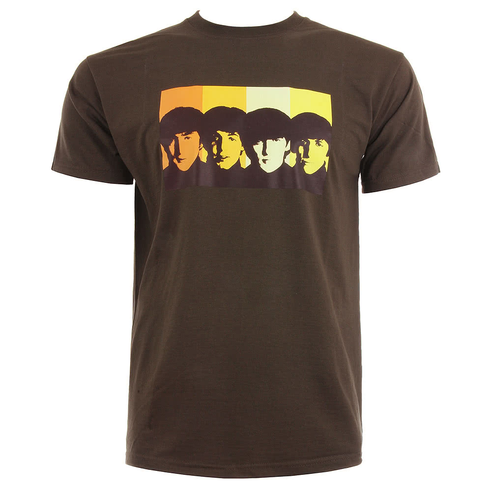 The Beatles Retro T Shirt (Brown)