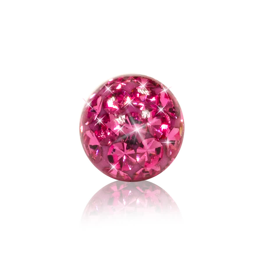 Crystal 3mm Glitter Ball (Rose)