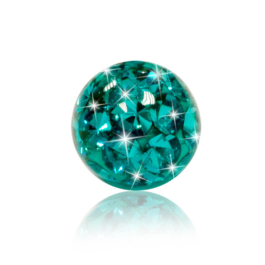 Blue Banana Zircon 3-5mm Glitter Ball (Blue)