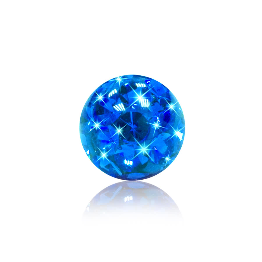 Crystal 3mm Glitter Ball (Capri)