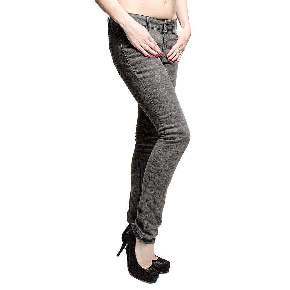 Bleeding Heart Ultra Skinny Jeans (Grey Indigo)