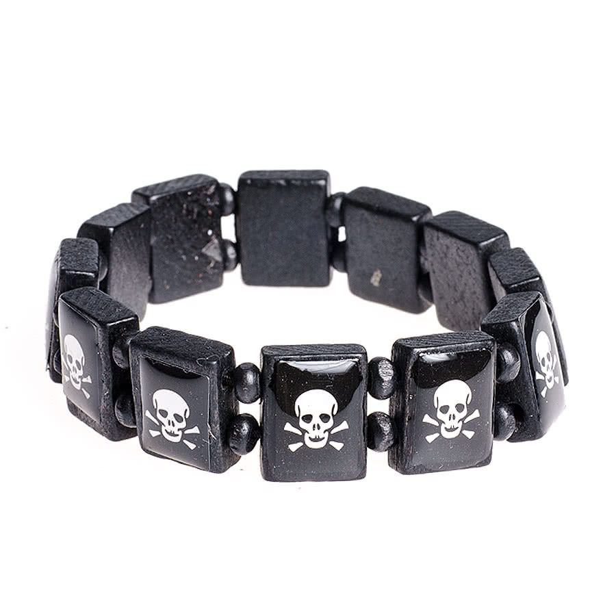 Blue Banana Skull & Crossbones Icon Bracelet