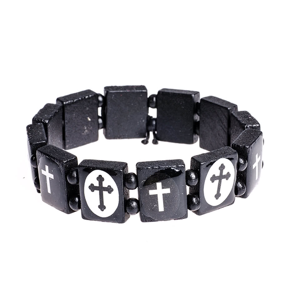 Blue Banana Crosses Icon Bracelet