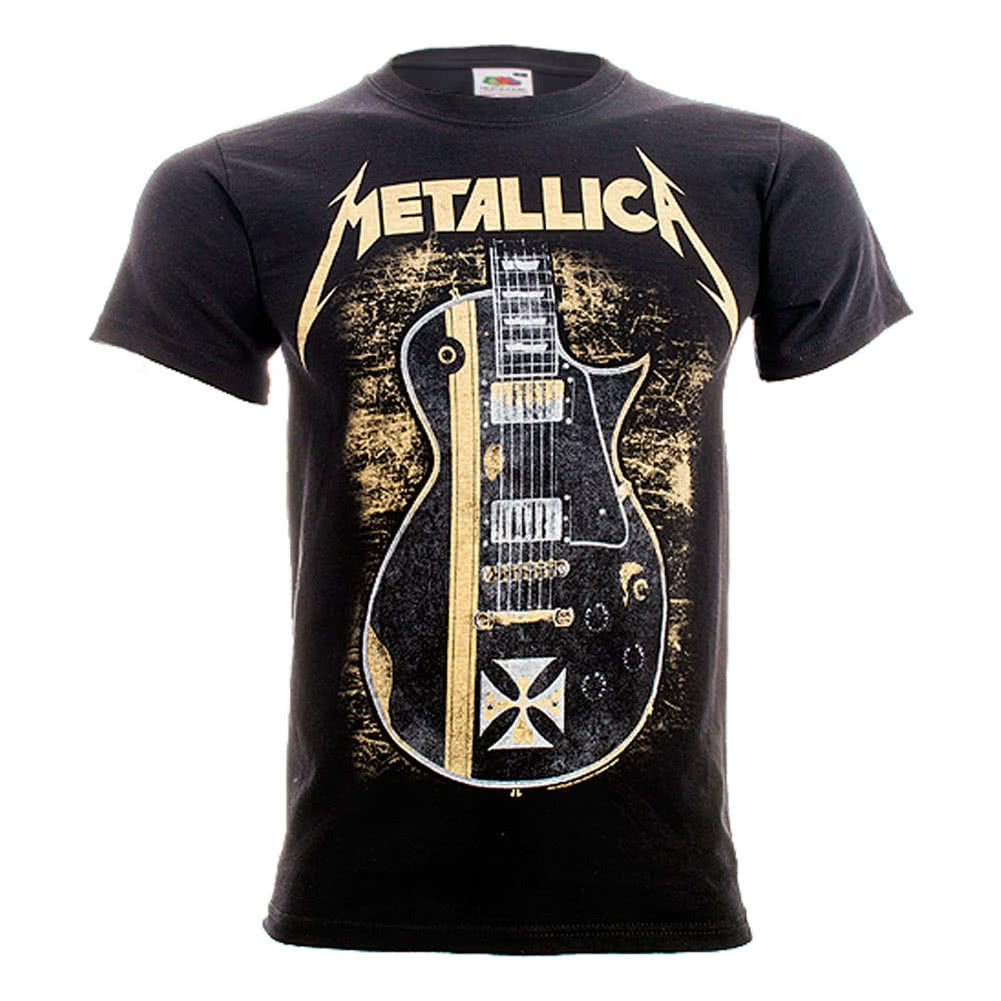 Metallica Hetfield Iron Cross T Shirt (Black)
