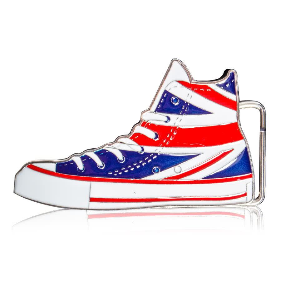 Blue Banana Union Jack Boot Belt Buckle