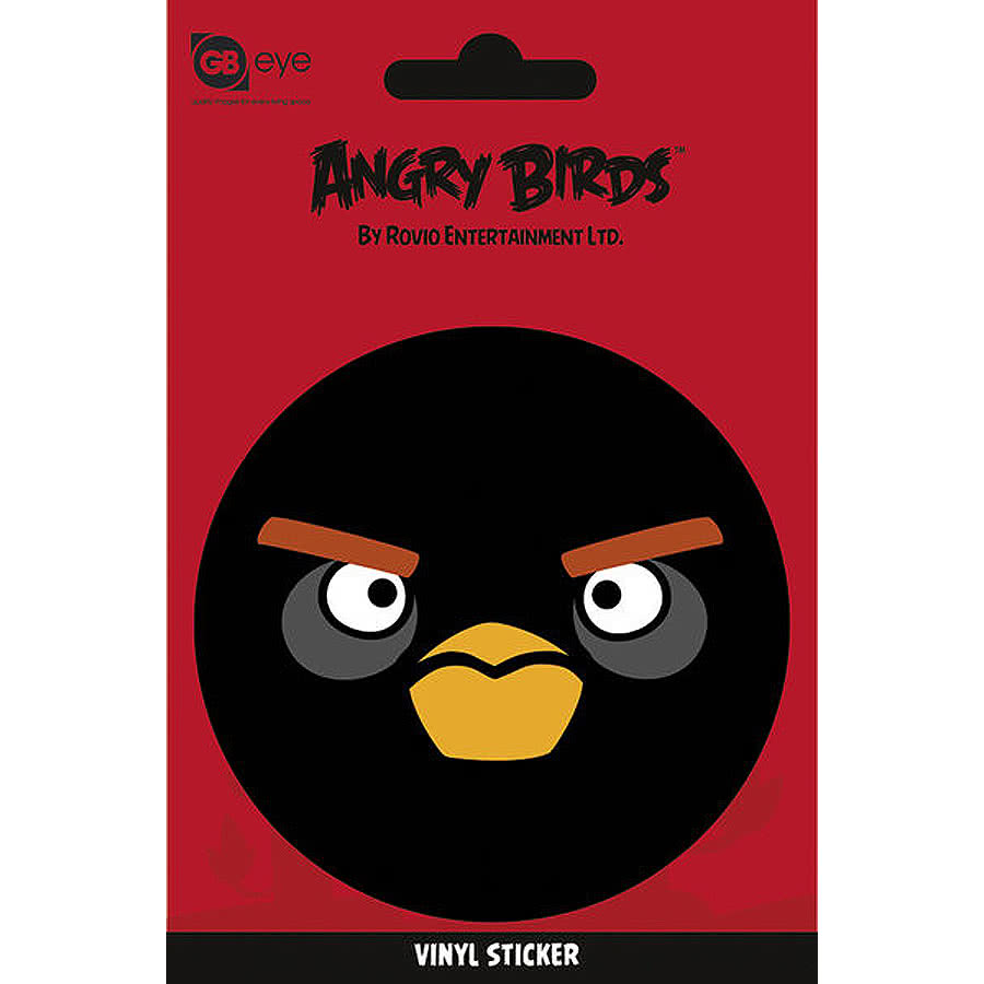 Angry Birds Black Bird Vinyl Sticker