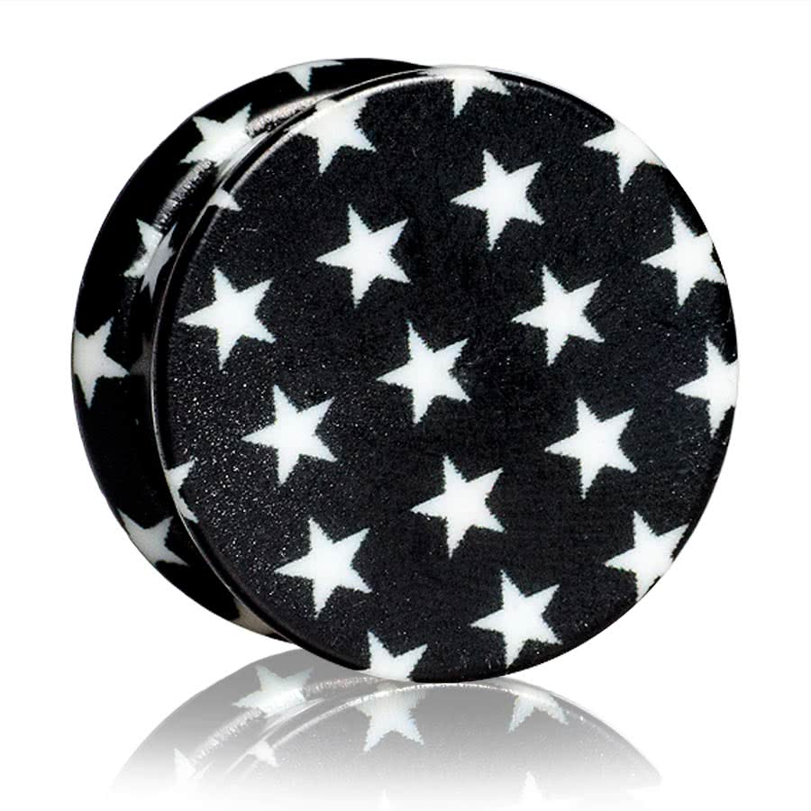 Blue Banana Stars Stash Plug (Black)