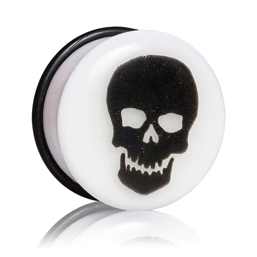 Blue Banana Glow Skull Plug 14-25mm (White)