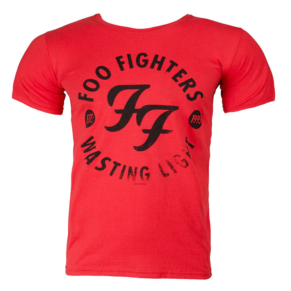 Foo Fighters Wasting Light T Shirt (Red)