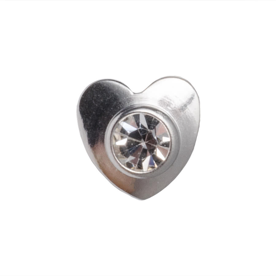 Blue Banana 3mm Dermal Top Heart (Crystal)