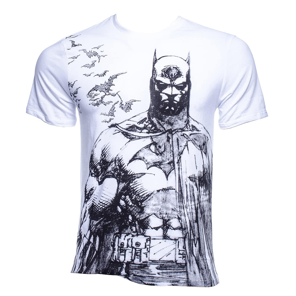 DC Comics Batman Bat Fly T Shirt (White)