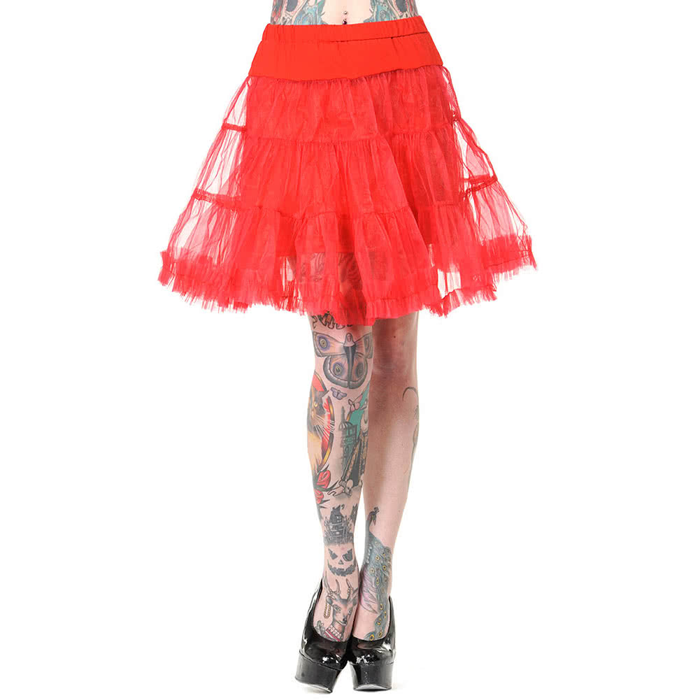 Banned Flared Short Petticoat (Red)