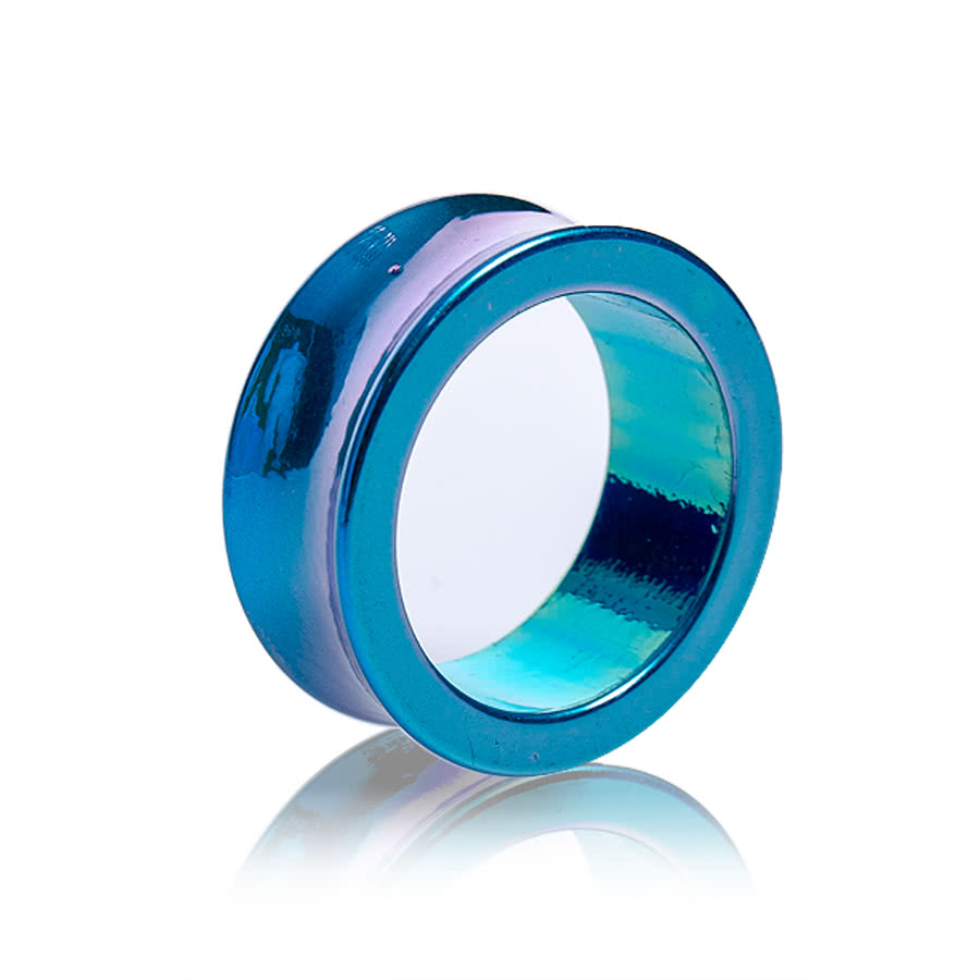 Blue Banana Pearl Flesh Tunnel (Blue)