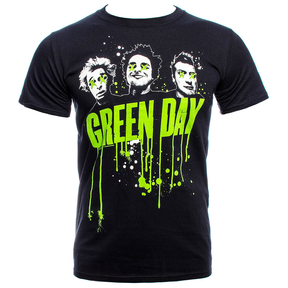 Green Day Drips T Shirt (Black)