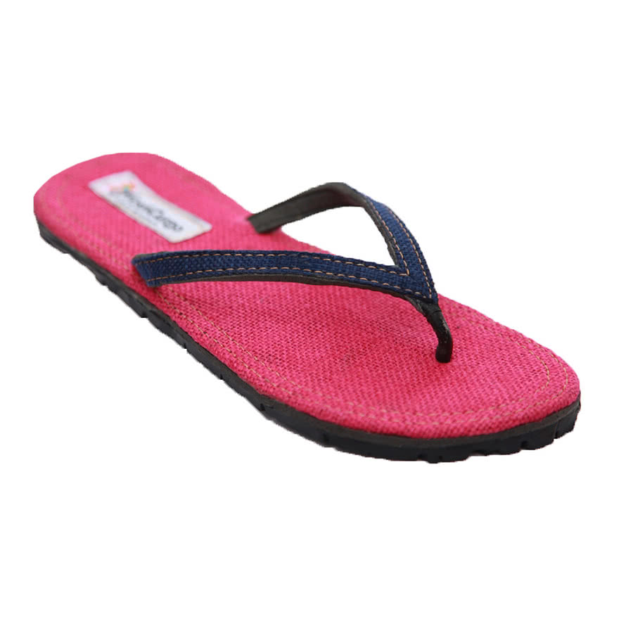 Maasai Treads Ladies Flip Flops (Pink/Navy)
