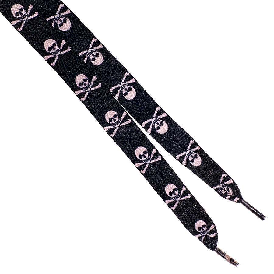 Blue Banana Skull Laces (Black/Pink)