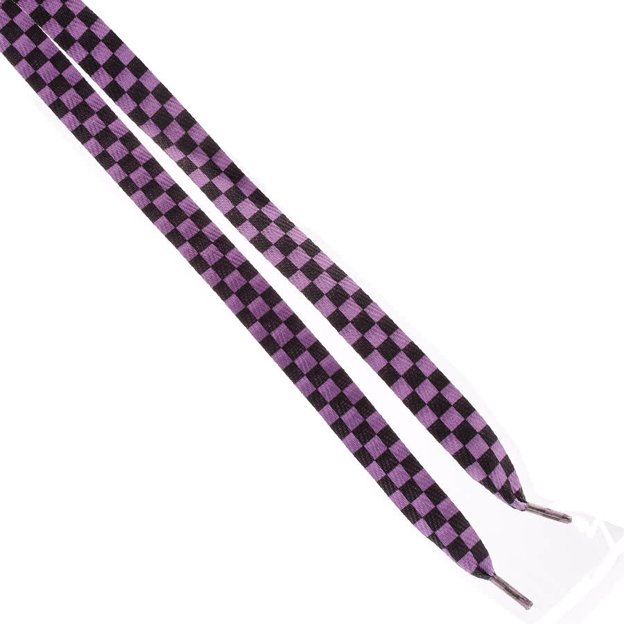 Blue Banana Checked Laces (Purple/Black)