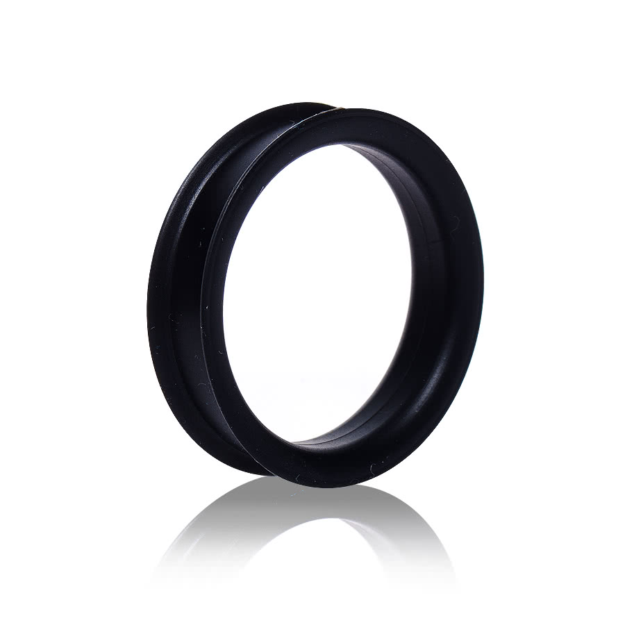 Blue Banana Silicon Eyelet Tunnel 42-50mm (Black)