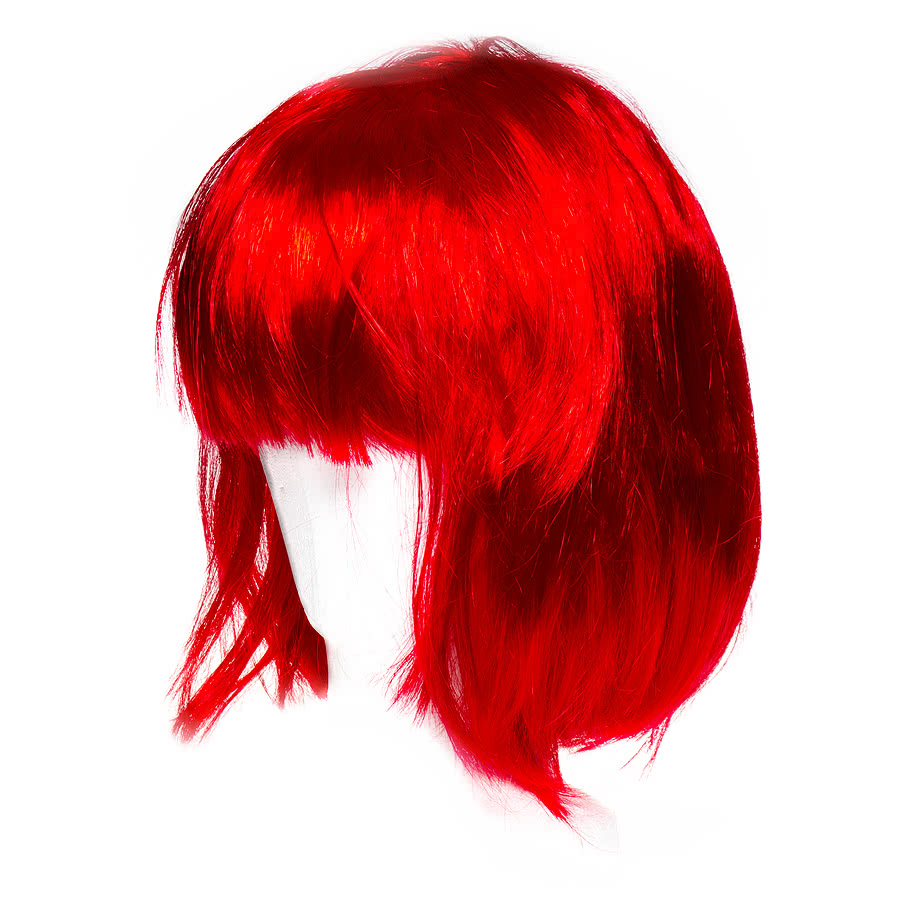 Blue Banana Bob Wig (Red)