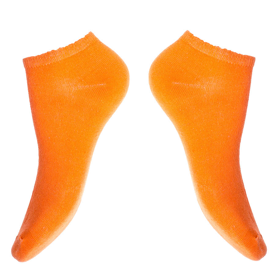 Blue Banana Trainers Socks (UV Orange)