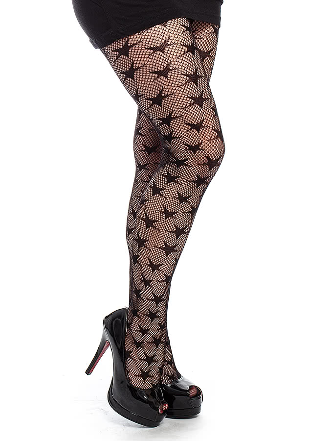 Blue Banana Stars Tights (Black)