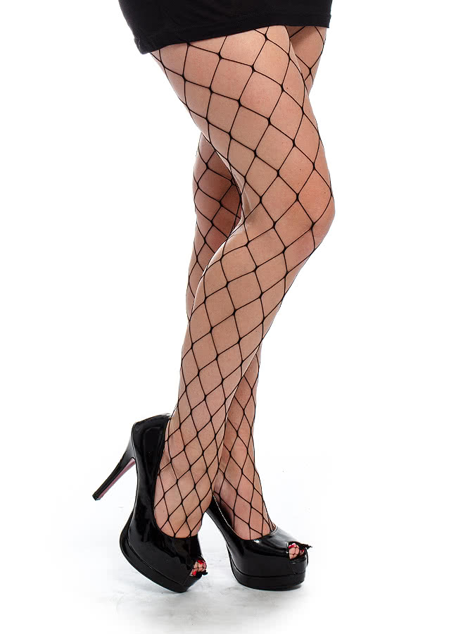 Blue Banana XL Net Tights (Black)